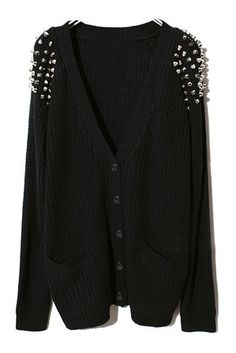 Studded Cardigan! A cool mix of styles