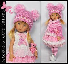 """PINK Outfit for Effner 10"""" BONEKA sister to Little Darling by Maggie & Kate 