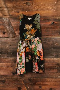 retro floral dress