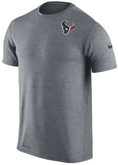 Workout in this graphic T-shirt while supporting the Houston Texans. The Nike NFL men's Dri-FIT Touch T-shirt will keep you dry even when you've built up a sweat with moisture-wicking technology. Crew neck Short sleeves Screen print team logo at top left Screen print brand logo at left sleeve Screen print league logo at right sleeve Moisture Wicking Dri-FIT technology Regular fit Tagless Polyester Machine washable