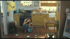 This is Milly's boyfriend's kitchen in the movie Because I Said So. Love it. This website it awesome. It has tons of interiors from different movies.