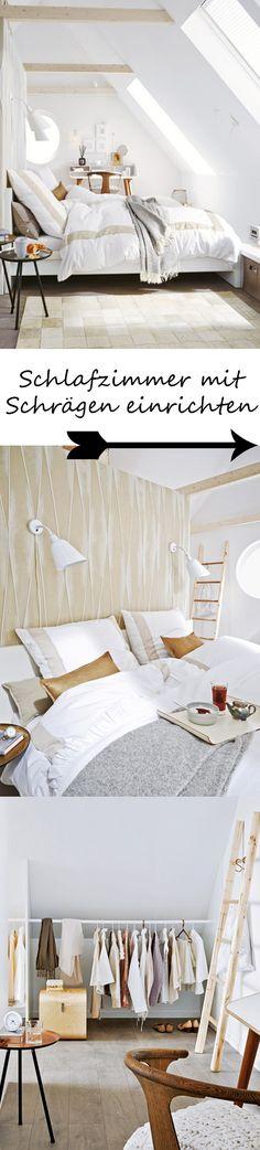 Charmant Unterm Dach: Schlafzimmer Mit Schrägen Einrichten