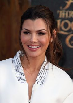 Ali Landry Ponytail - Ali Landry swept her hair back into a mildly messy ponytail for the premiere of 'Alice Through the Looking Glass.'