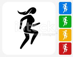Woman Running Icon This 100% royalty free vector illustration Free vector illustration Illustration Vector