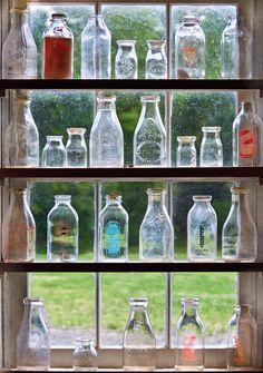Antique Photograph - Collector - Bottles - Milk Bottles by Mike Savad Old Milk Bottles, Vintage Milk Bottles, Antique Glass Bottles, Bottles And Jars, Milk Jars, Mason Jars, Apothecary Jars, Plastic Bottles, Perfume Bottles