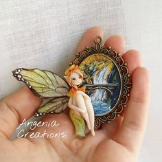 """""""Mi piace"""": 1,160, commenti: 18 - Angenia-Creations (@angeniacreations) su Instagram: """"Wood fairy,  i hope you like it! It Will be available in My etsy Shop on friday (20th) at 9 p.m.…"""""""