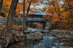 To purchase this as a print, or related merchandise, please click http://vistaphotography.artistwebsites.com/featured/1-flume-gorge-covered-bridge-jeff-folger.html<br /> <br /> The Flume Gorge is in Franconia Notch and you have this well cared for covered bridge to walk or ride across. A bridge of sorts has been in this location since the 1870s but it wasn't until much later that the bridge as you see it here was built.<br />  <br /> Franconia Notch State Park is located in NewHampshire.