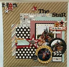 #papercraft #scrapbook #layout  The Star : Gallery : A Cherry On Top