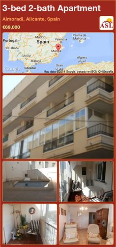 3-bed 2-bath Apartment in Almoradi, Alicante, Spain ►€69,000 #PropertyForSaleInSpain