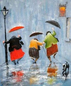 Beautiful painting, Dancing and having fun in the rain!
