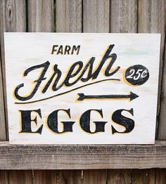 Farm Fresh Wood Sign by Sign Me Up on Scoutmob Shoppe. A hand-painted, vintage-style sign looking for the right baker's kitchen.