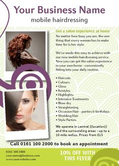 business plan mobile hairdresser price