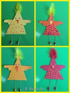 44 Easter Crafts for Preschoolers - Dailly Pins Easter Art, Easter Crafts For Kids, Toddler Crafts, Bird Crafts, Diy And Crafts, Chicken Quilt, Chicken Crafts, Puppet Crafts, Art N Craft