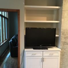 Turn a small and unusual place into something good#entertainmentcenters #classicwood #bathroomvanity #hardwoods #kitchencabinets #lnk#customwoodworking via ClassicWoodLincoln.com