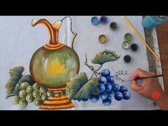 Jarra com Uvas em Tecido (Aula27) - YouTube
