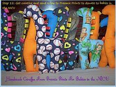 Preemie Prints Information Blog: More Sweet Giraffes for Preemies & NICU Babies!