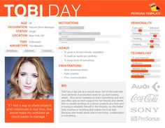 Tobi Day - UX User Persona Sample (template available)