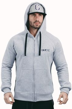 Gymtopz zip up hoodie - Gray