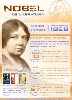 1928: Sigrid Undset, un Nobel para Noruega, por @Lorna Riojas Campos M.  Ingresa a la web de la imagen para poder acceder a los links de la infografía | De Papel a Digital