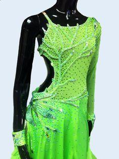 Ballroom  Dance   Dress of Light Green Color     Ballroom  Dance  Dresses