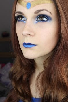 Sailor Mercury inspired make up by http://www.talasia.de/2015/07/02/sailor-mercury-inspired-make-up/