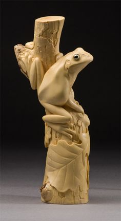 Frog carving