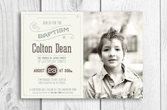 LDS Baptism printable invitation  announcement by PicadillyLime, $13.00