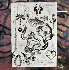 tattoo flash sheet by in fitzroy, australia. Third Eye Tattoos, Tattoo Flash Sheet, Australia, Art, Art Background, Kunst, Art Education