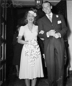 April 22, 1939:  Mary Lee Eppling Hartford (former wife of Huntington Hartford, the A supermarket heir) and actor Douglas Fairbanks, Jr., on their wedding day. They were married 49 years before her death in 1988.