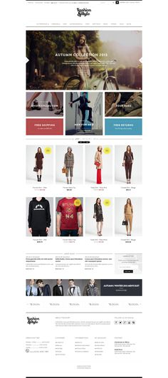 Pav Fashion Responsive Opencart Theme by Zizaza - design ocean , via Behance