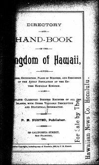 Polk 1892: Directory and hand-book of the Kingdom of Hawaii, 1892