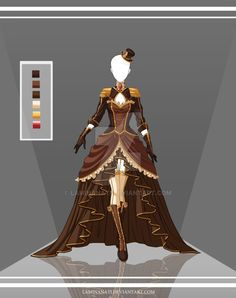 Adoptable Outfit Auction by LaminaNati on DeviantArt Dress Drawing, Drawing Clothes, Drawing Drawing, Dress Sketches, Fashion Sketches, Anime Dress, Fantasy Dress, Anime Outfits, Character Outfits