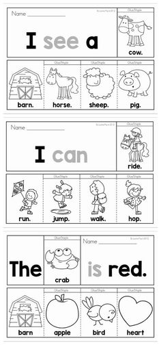 40 Pre-Primer Sight Word Fluency Flip Books (color and black and white). Includes a recording page for each booklet for extra sight word and writing practice. Great for beginning and struggling readers and ESL students. by Heather Bowers Pendarvis Sight Word Booklets, Sight Word Activities, Preschool Sight Words, Sight Word Worksheets, Word Games, Preschool Activities, Sight Word Practice, Writing Practice, Pre Primer Sight Words