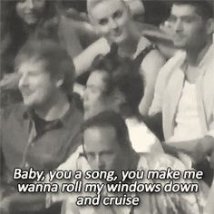Harry singing along to Cruise {GIF} he's actually like extremely...idk the word....into it. At least for that bit
