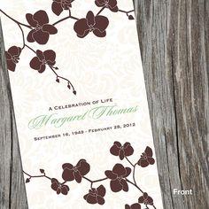 Beautiful Memorial/Funeral Program Order of by FoxDigitalDesign, $15.00