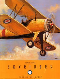 Sky Riders 1 Fine-Art Print by Karen Dupre at Vintage Wall Creative Advertising, Advertising Poster, Airplane Art, Airplane Room, Vintage Trends, Vintage Ideas, Vintage Photos, Vintage Designs, Air Festival