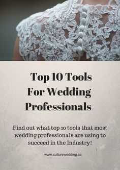 Top 10 tools for wedding planners to use in order to simplify and streamline the wedding planning process.   #Aisleplanner #Soyouwanttobeaweddingplanner #weddingplanner  http://www.culturewedding.ca/top-10-useful-tools-wedding-professionals/