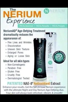A breakthrough treatment for fine lines, wrinkles, age damaged and sun damaged skin #skincare #nerium #beautiful http://www.lindageer7.nerium.com