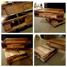 Industrial coffee table palletwood DIY
