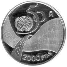 2000 Pesetas 1995 50 Aniversario de la ONU. Madrid