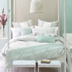 Nice Mint Green Bedroom Ideas   Hint Of Purple