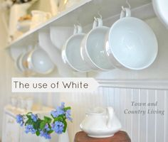 town and country white dishes