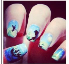 Peter Pan nails! I wish I was talented enough to paint these!