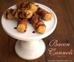 Low-carb Bacon Cannoli's - cool idea! via mariamindbodyhealth.com