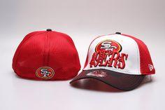 Cheap Wholesale NFL San Francisco 49ers 39THIRTY Cap Team Logo Fitted Hat Peaked Cap Baseball Hats Mesh Red 011 for slae at US$8.90 #snapbackhats #snapbacks #hiphop #popular #hiphocap #sportscaps #fashioncaps #baseballcap