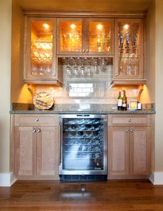 Dry Bar Design Ideas  Love The Shelving!