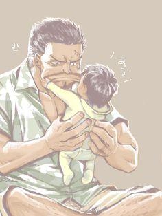 Garp and Luffy - One Piece