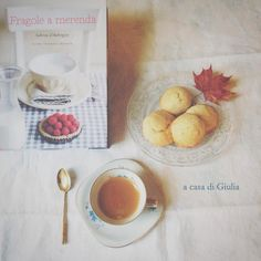 """""""Fragole a merenda"""" a casa di Giulia, con gli snickerdoodles al limone... #quifragoleamerenda"""