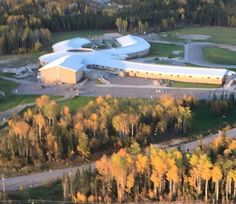 Helen Betty Osborne Ininew Education Resource Center (HBOIERC) in the Fall. Taken by Terry and or Nelson September 30, 2015.