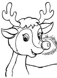 dibujos para colorear de renos